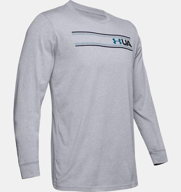 Mens UA Team Stripe Long Sleeve
