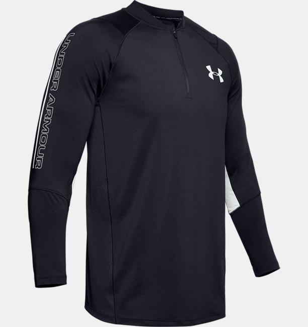 Mens UA MK-1 ¼ Zip Wordmark Sleeve