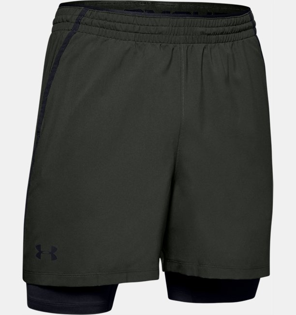 Mens UA Qualifier 2-in-1 Shorts
