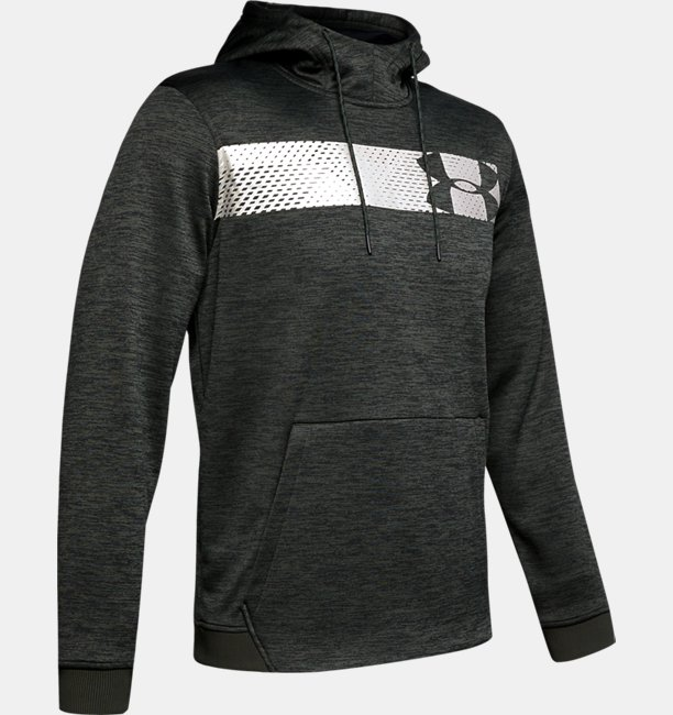 Mens Armour Fleece® Bar Logo Graphic Hoodie
