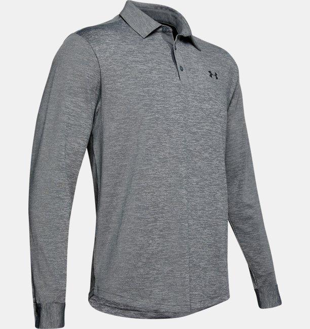 Mens UA Playoff 2.0 Long Sleeve Polo