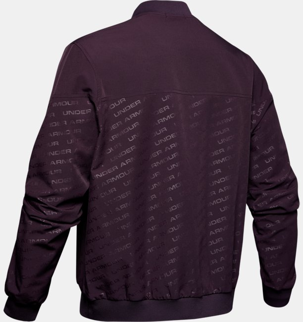 Mens UA Unstoppable Emboss Bomber Jacket