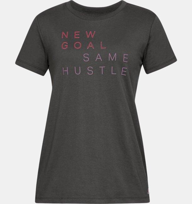 Womes UA New Goal Same Hustle Graphic Classic Crew