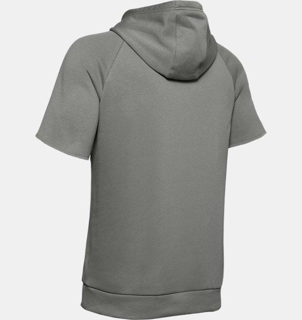 Mens UA Rival Fleece Logo Short Sleeve Hoodie