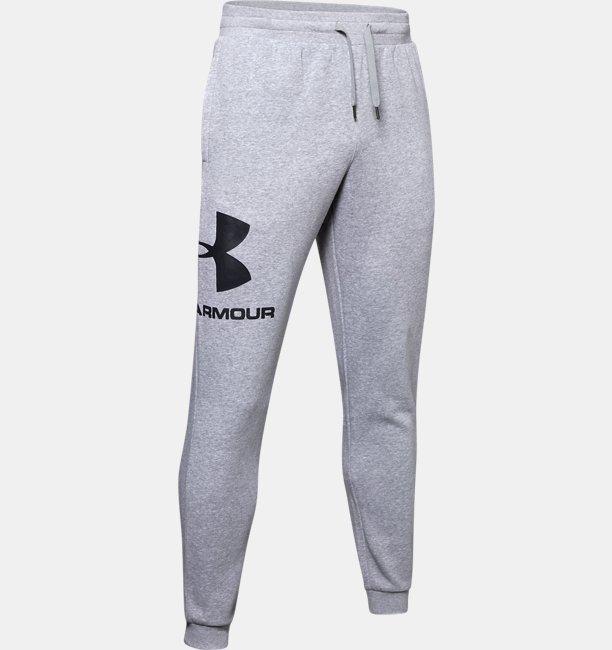 Mens UA Rival Fleece Logo Joggers