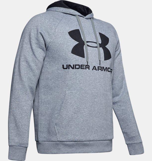 Herenhoodie UA Rival Fleece Logo