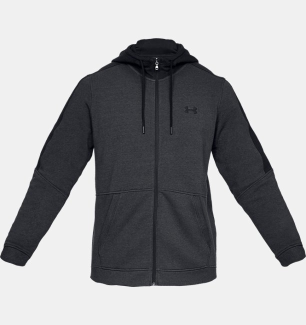 Erkek UA Microthread Fleece Tam Boy Fermuarlı