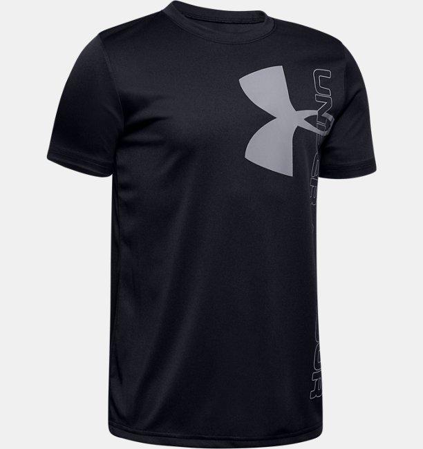 Boys UA Split Logo Hybrid Short Sleeve