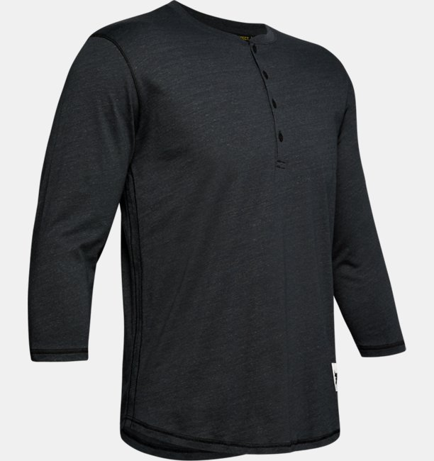 Mens Project Rock¾ Sleeve Henley