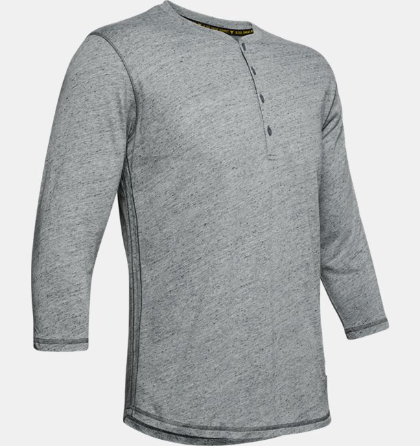 Mens Project Rock ¾ Sleeve Henley