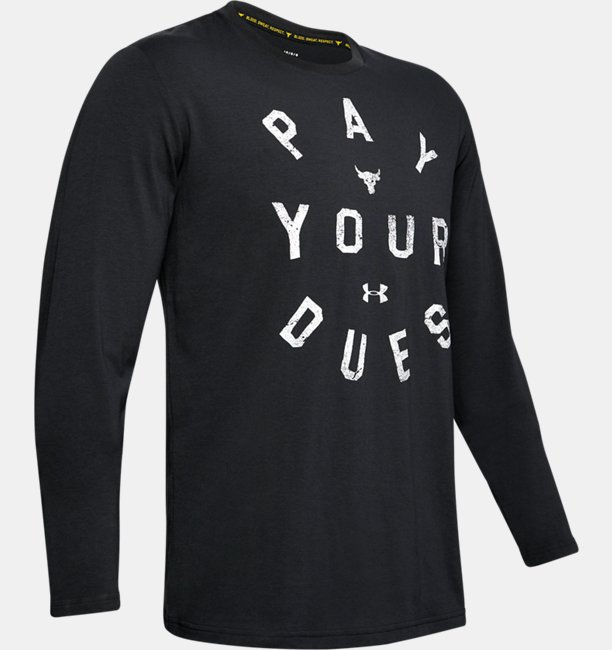 Herren Project Rock Pay Your Dues Shirt, langärmlig