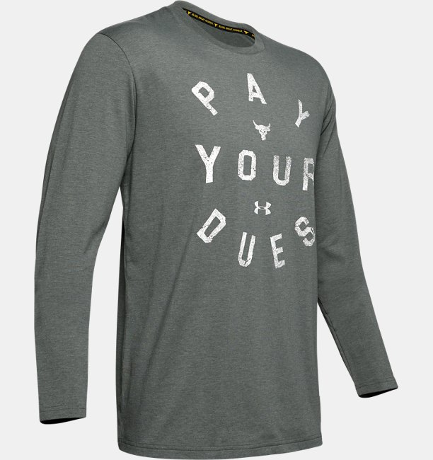 Mens Project Rock Pay Your Dues Long Sleeve