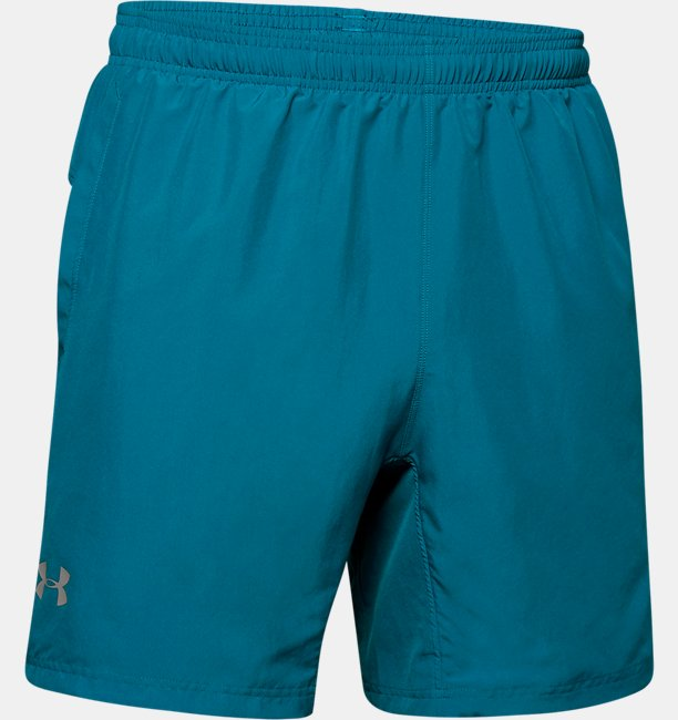 Mens UA Speed Stride Graphic 7 Woven Shorts