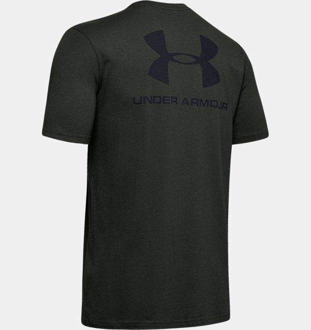 UAスポーツスタイル レフトチェスト バック Tシャツ(トレーニング/Tシャツ/MEN)
