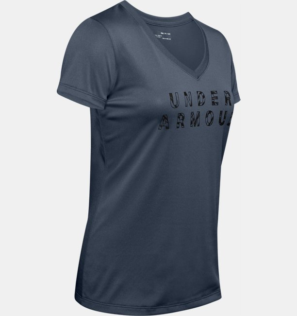 Womens UA Tech™ Short Sleeve V-Neck Graphic