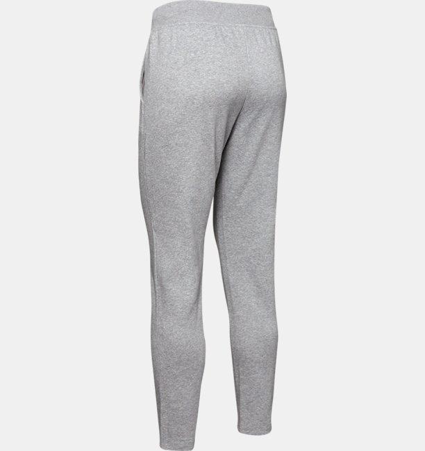 Womens UA Rival Fleece Open Hem Pants