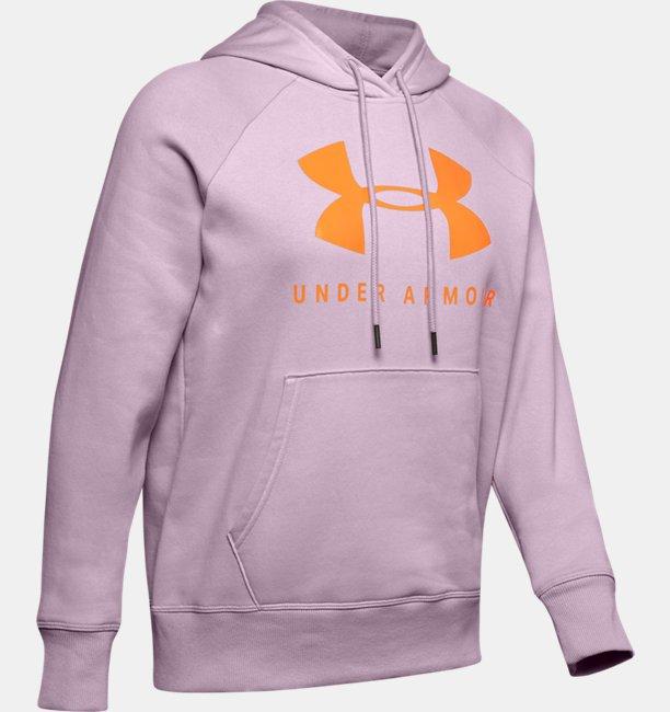 Womens UA Rival Fleece Sportstyle Graphic Hoodie