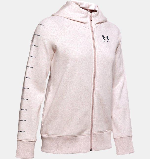Polerón UA Rival Fleece Sportstyle LC Sleeve Graphic Full Zip para Mujer