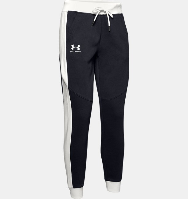 Womens UA Rival Fleece Graphic Pants