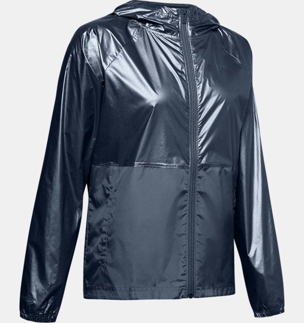 Womens UA Metallic Woven Full Zip
