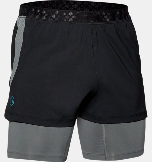 Mens UA RUSH™ Run 2-in-1 Shorts