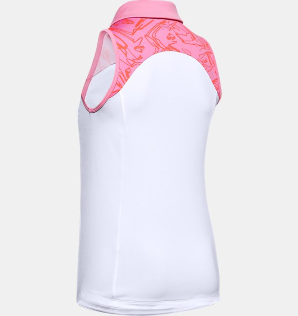 Womens UA Zinger Sleeveless Blocked Polo