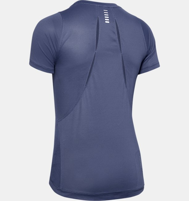 Womens UA Qualifier Iso-Chill Embossed Short Sleeve