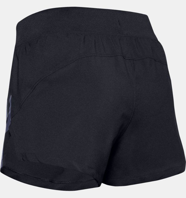 Womens UA Launch SW 3 Graphic Shorts