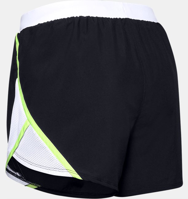 Womens UA Fly-By 2.0 Wordmark Shorts