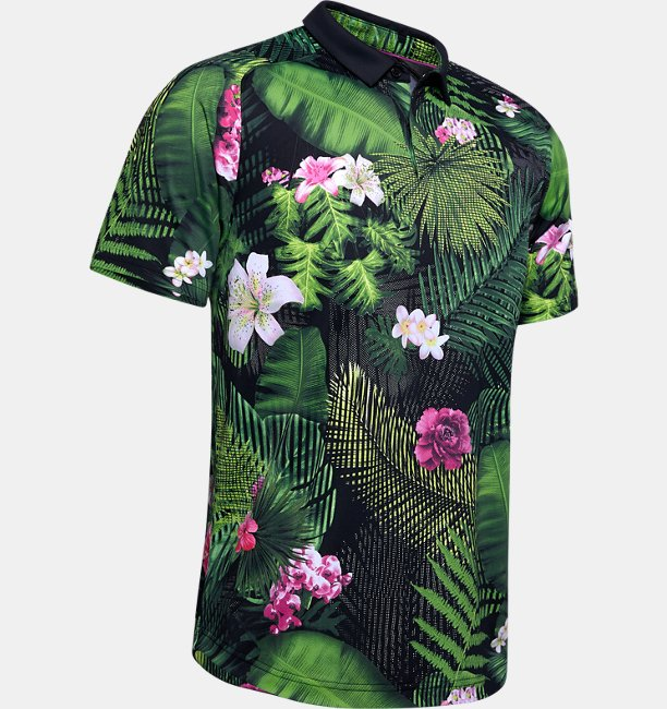 Mens UA Range Unlimited Iso-Chill Printed Polo