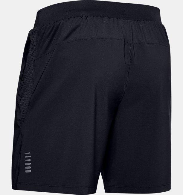 Mens UA Qualifier Speedpocket Branded 7 Linerless Shorts