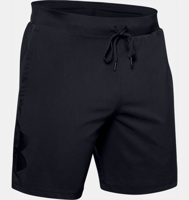 Mens UA Qualifier Speedpocket Branded 18 cm Linerless Shorts