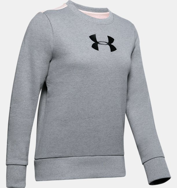 Womens UA Performance Originators Fleece Logo Crew