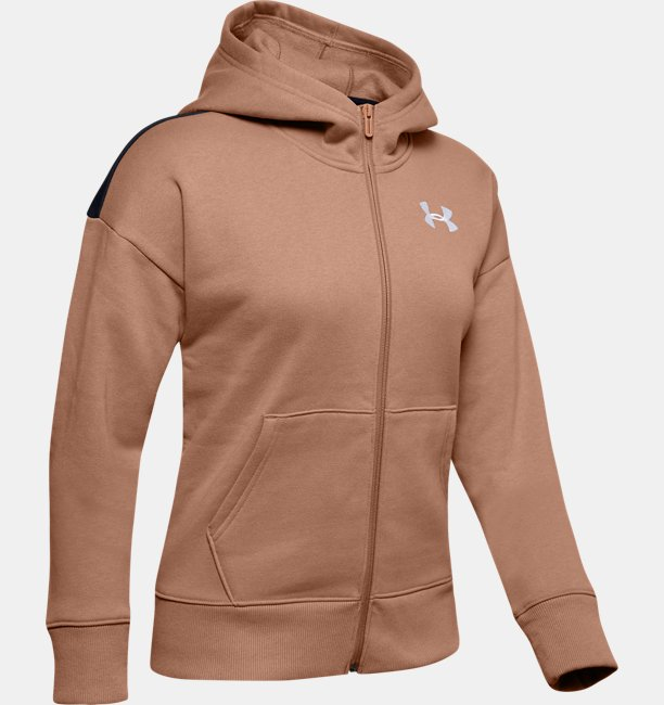 Womens UA Performance Originators Fleece LC Logo Full Zip Hoodie