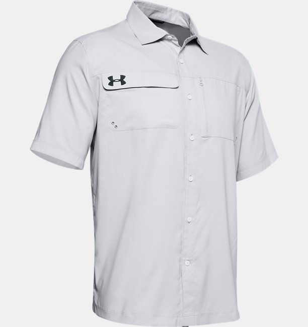 Mens UA Motivator Coachs Button Up Shirt