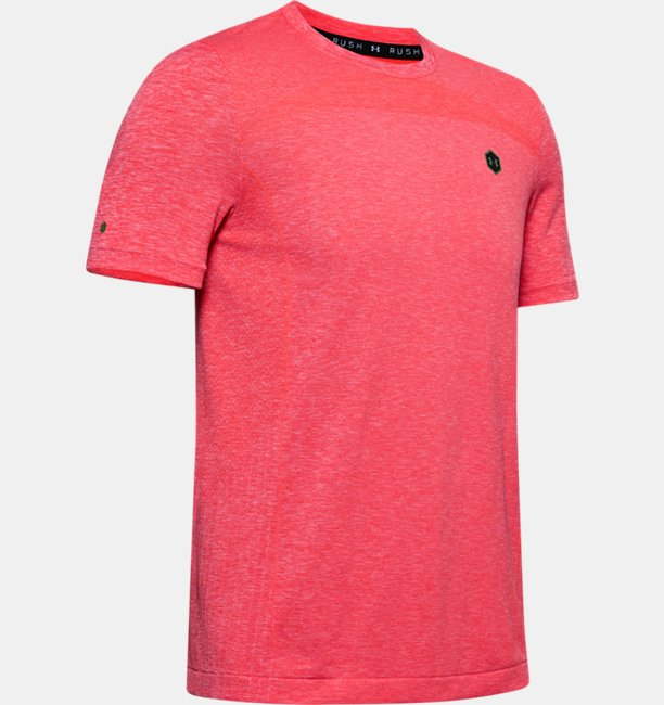 Mens UA RUSH™ Seamless Fitted Short Sleeve