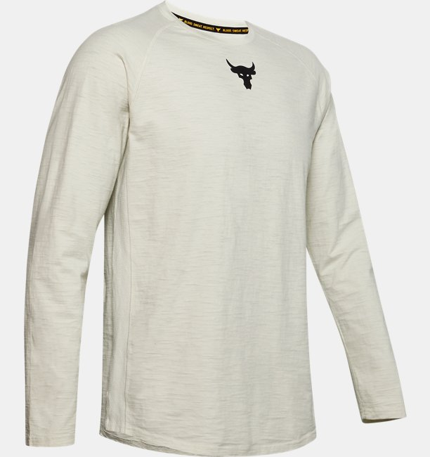 Mens Project Rock Charged Cotton® Long Sleeve