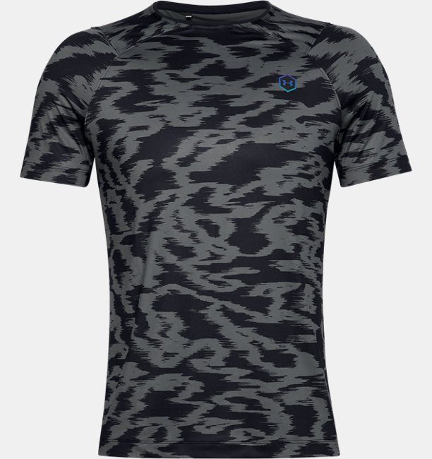 Playera Manga Corta UA RUSH™ HeatGear® Fitted Printed para Hombre