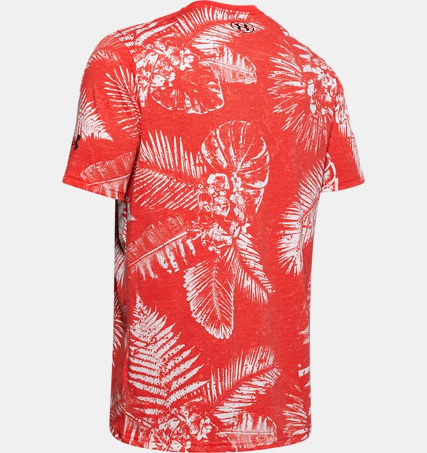 Mens Project Rock Aloha Camo Short Sleeve