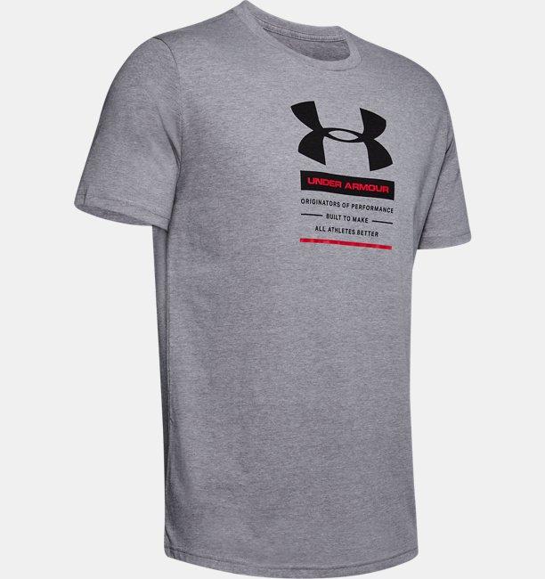 Mens UA Originators Of Performance Center Short Sleeve