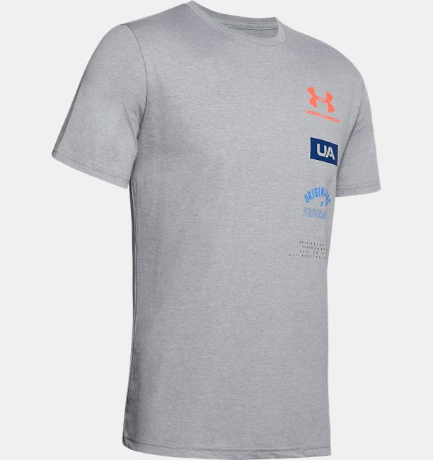 Mens UA Originators Of Performance Back Short Sleeve