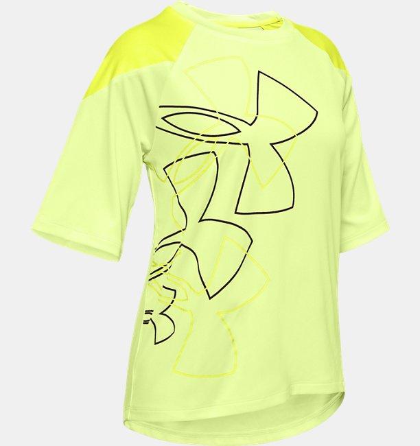 Girls UA Sun Armour Graphic Short Sleeve