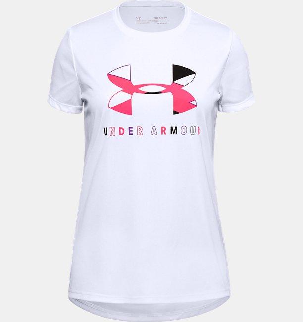 Girls UA Tech™ Big Logo Short Sleeve