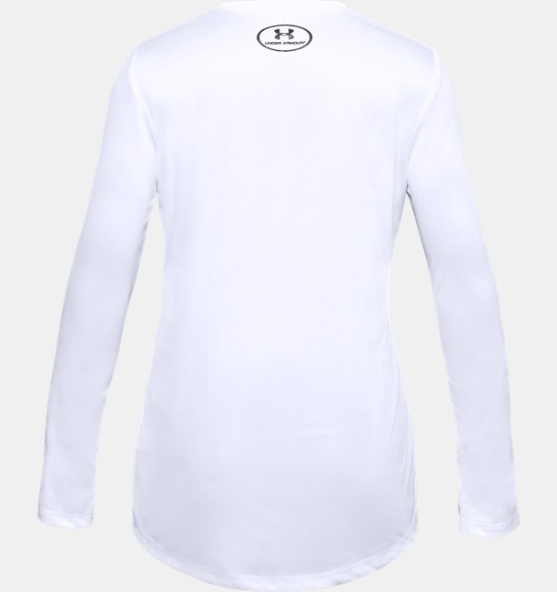 Girls UA Big Logo Long Sleeve
