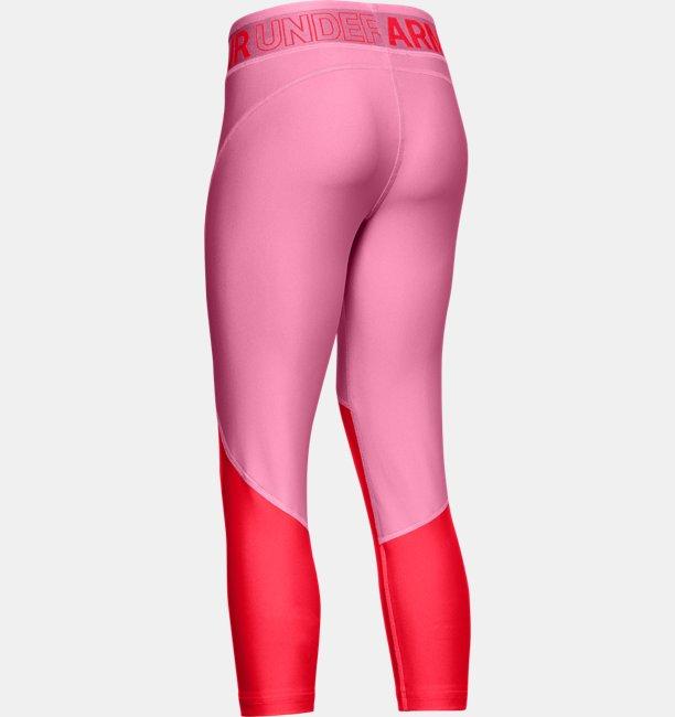 Girls HeatGear® Armour Color Block Crop