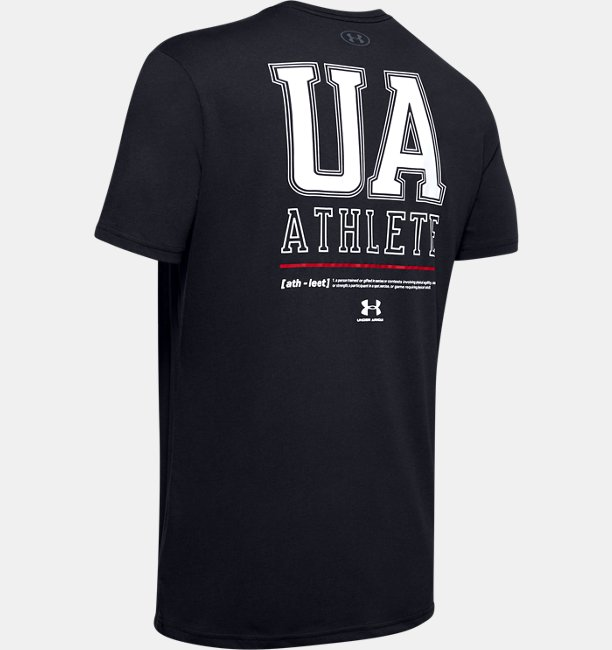 Mens UA Vertical Left Chest Short Sleeve