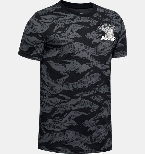 Boys UA AOP Camo BBall T-Shirt