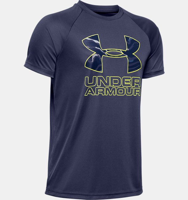 T-shirt UA Tech™ Hybrid Print Fill Logo pour garçon