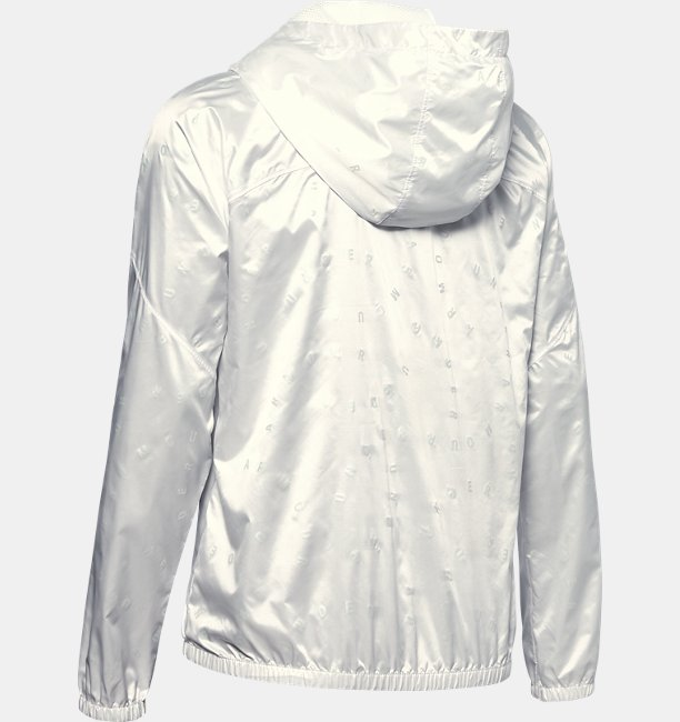 Womens UA Woven Translucent Full Zip