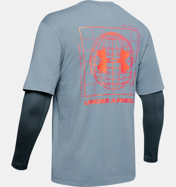 Mens UA Trek 2-in-1 T-Shirt
